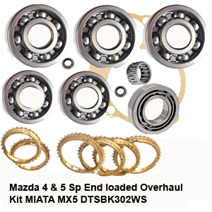 Mazda 4 & 5 Sp End loaded Overhaul Kit MlATA MX5 DTSBK302AWS
